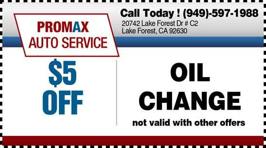 Oil Change Coupon Lake Forest